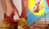 Step by step: street art e vertical running all'Ibis Hotel | Balarm.it